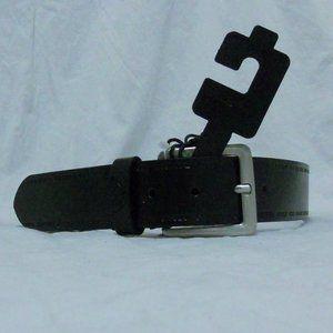 Diesel Belt 34 Italy Black Logo T8013 NWT